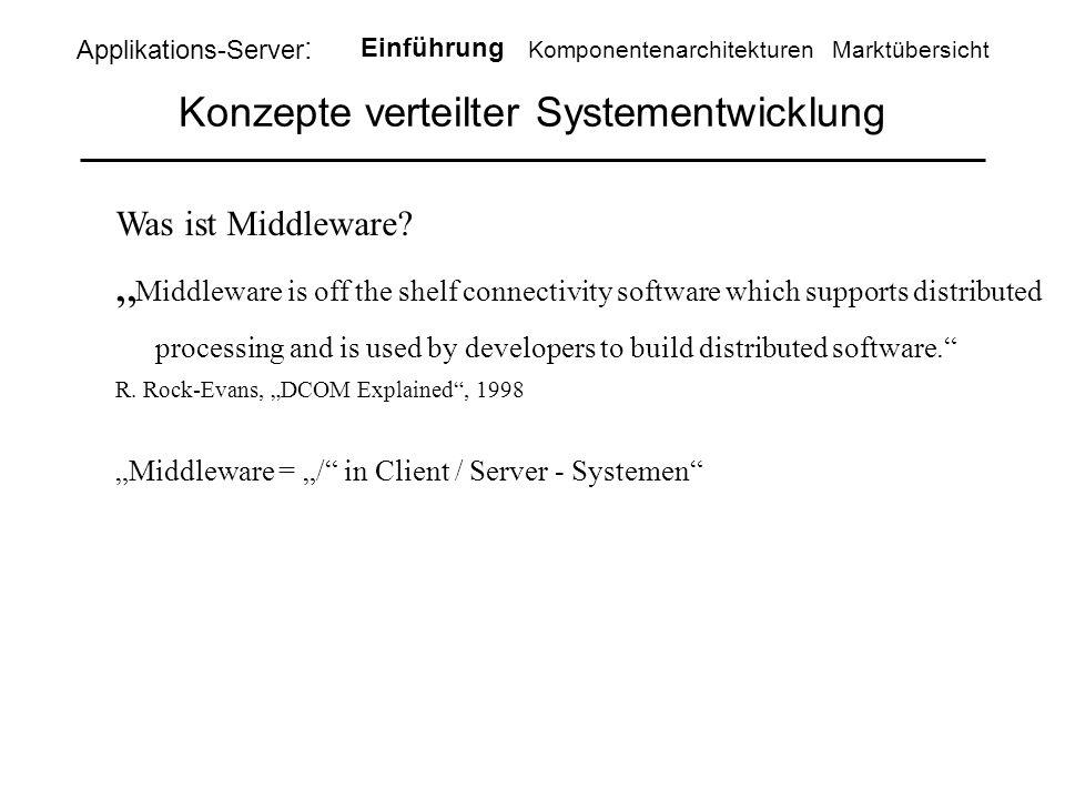 Konzepte verteilter Systementwicklung