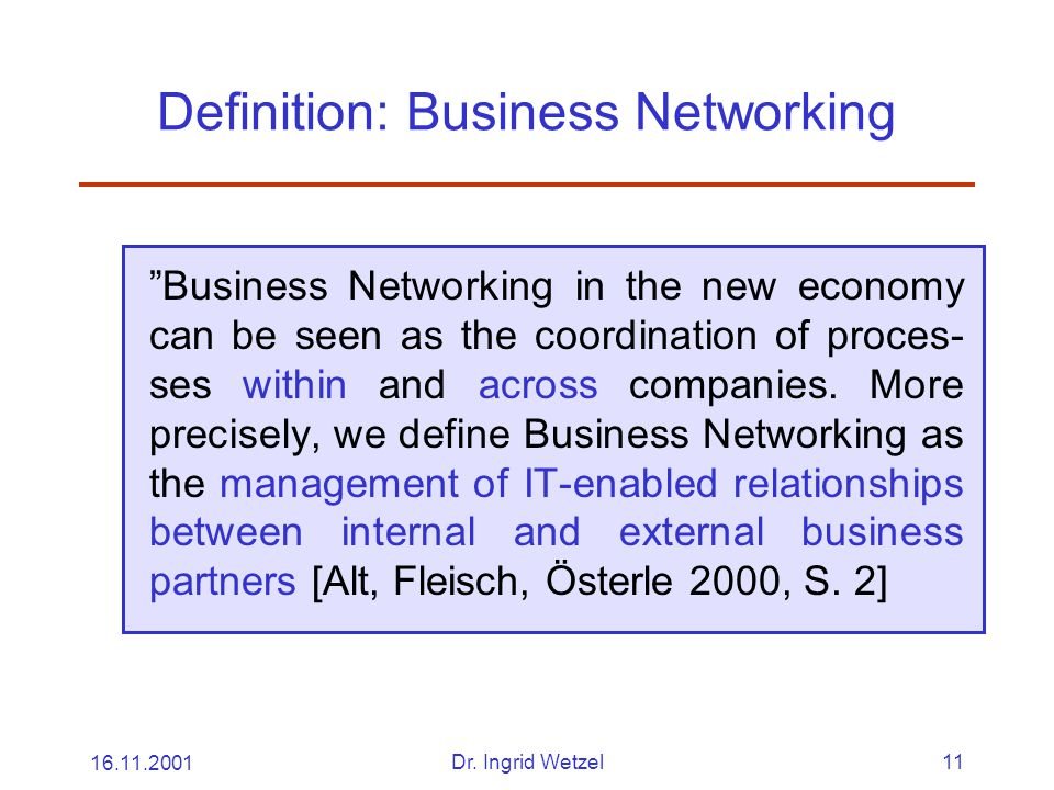 Definition: Business Networking