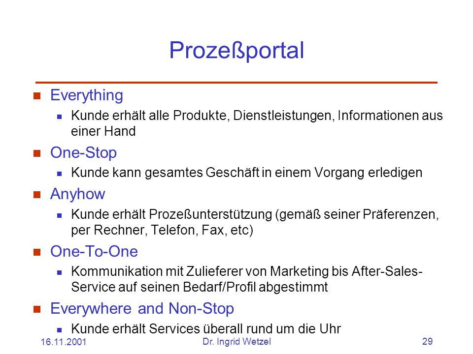Prozeßportal Everything One-Stop Anyhow One-To-One