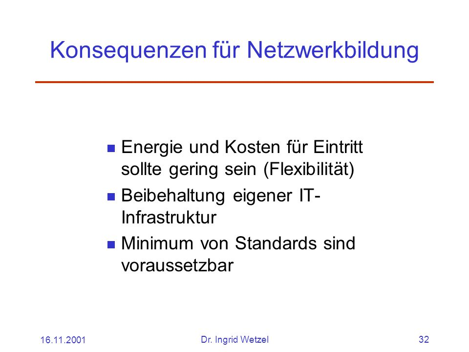 Konsequenzen für Netzwerkbildung