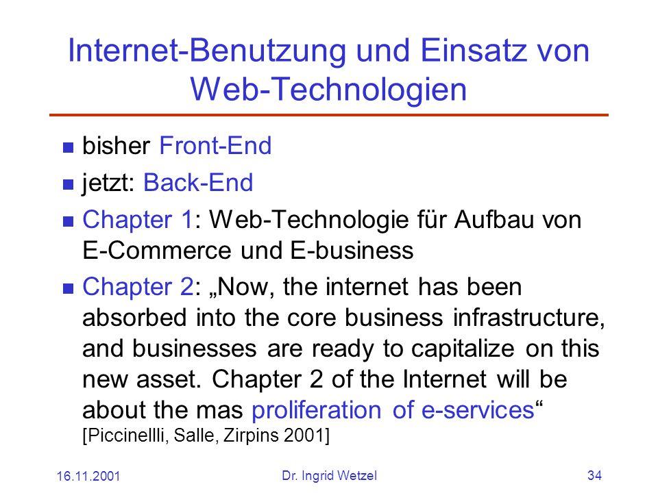 Internet-Benutzung und Einsatz von Web-Technologien