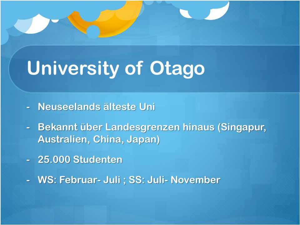 University of Otago Neuseelands älteste Uni