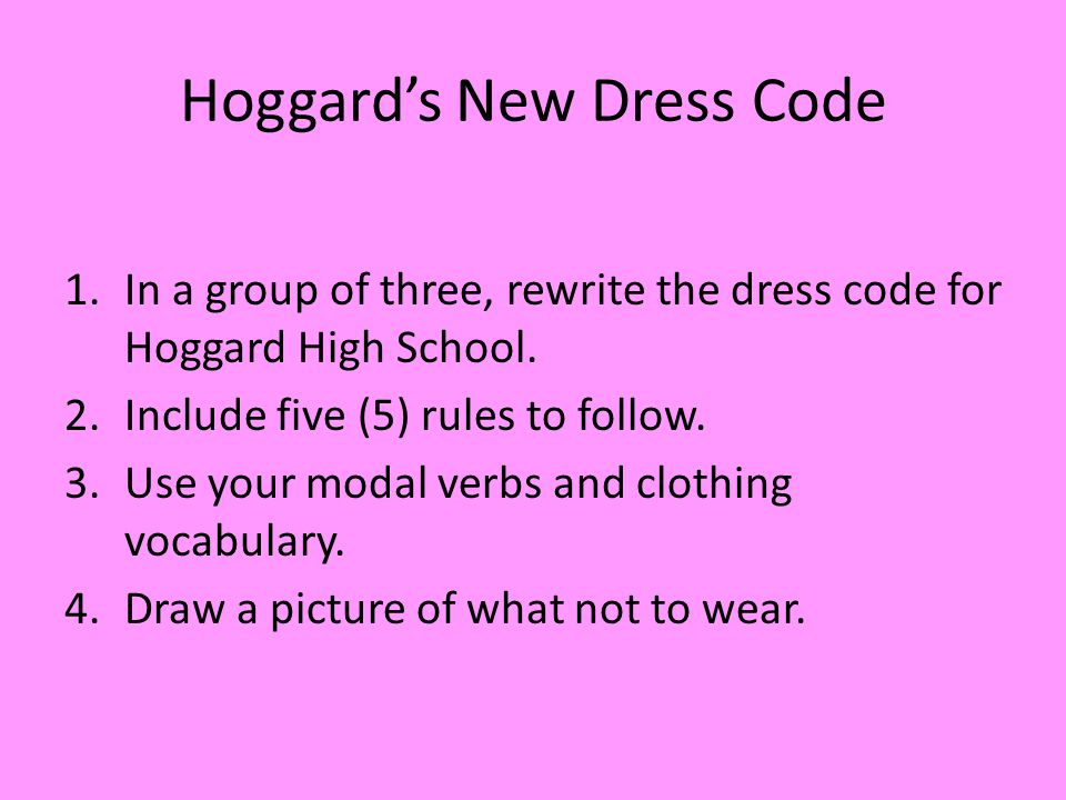 Hoggard's New Dress Code