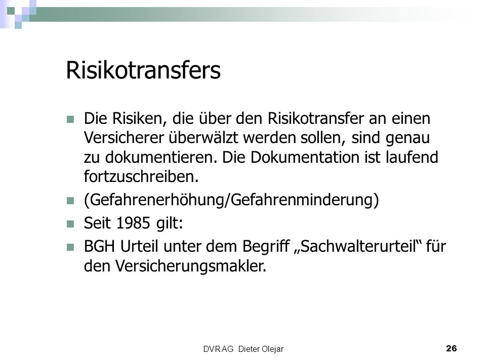 Risikotransfers