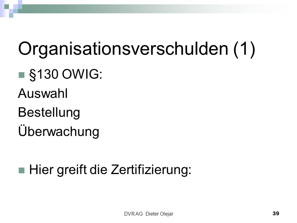 Organisationsverschulden (1)