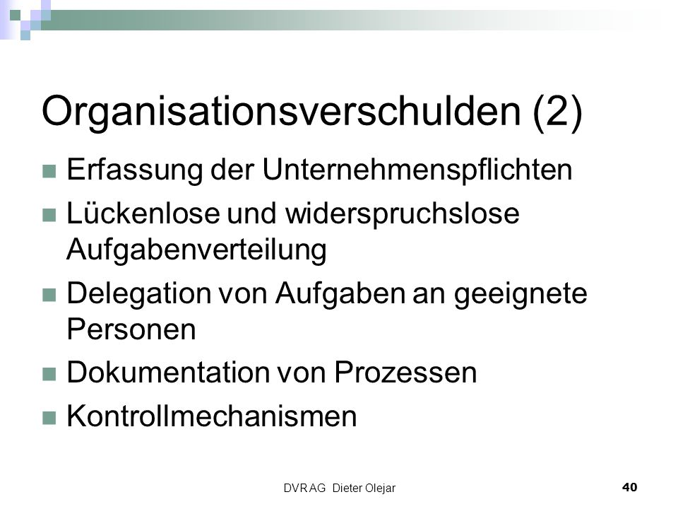 Organisationsverschulden (2)