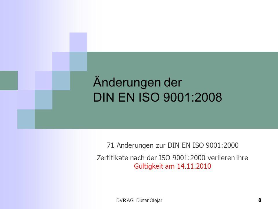 Änderungen der DIN EN ISO 9001:2008