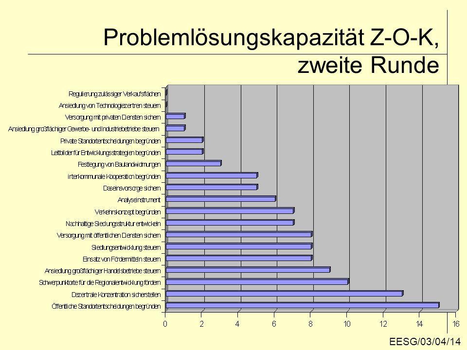 Problemlösungskapazität Z-O-K, zweite Runde