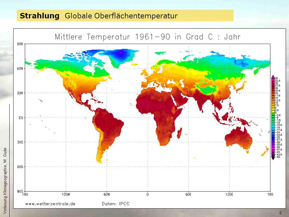 Strahlung Globale Oberflächentemperatur