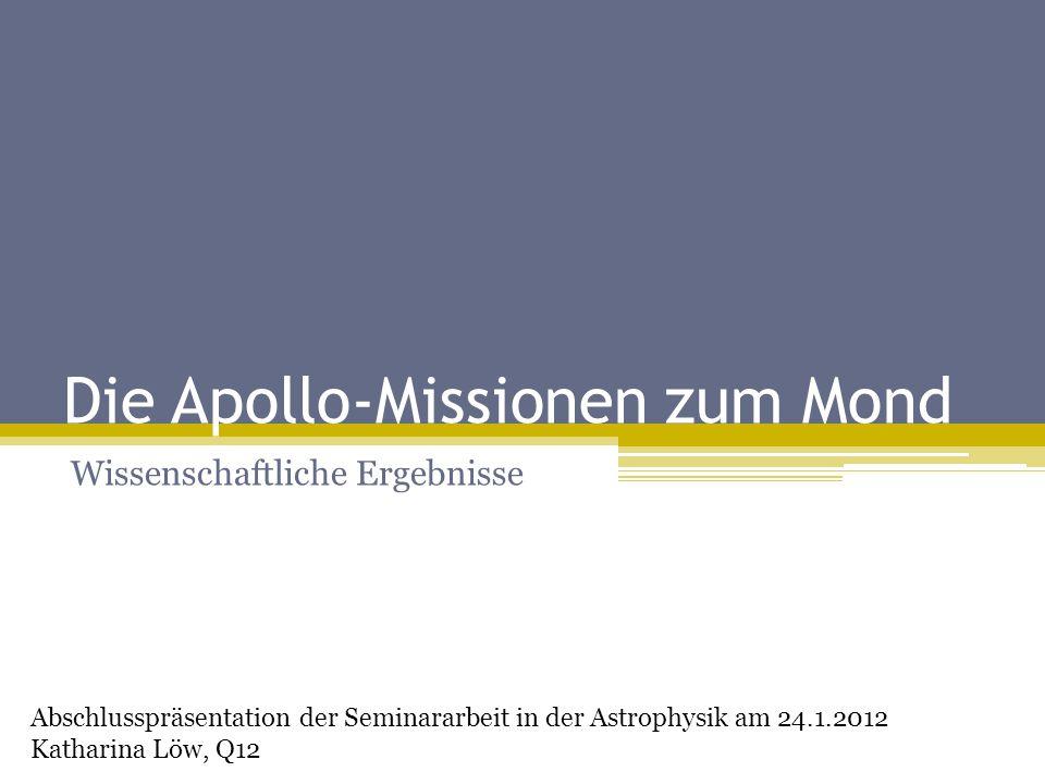 Die Apollo-Missionen zum Mond