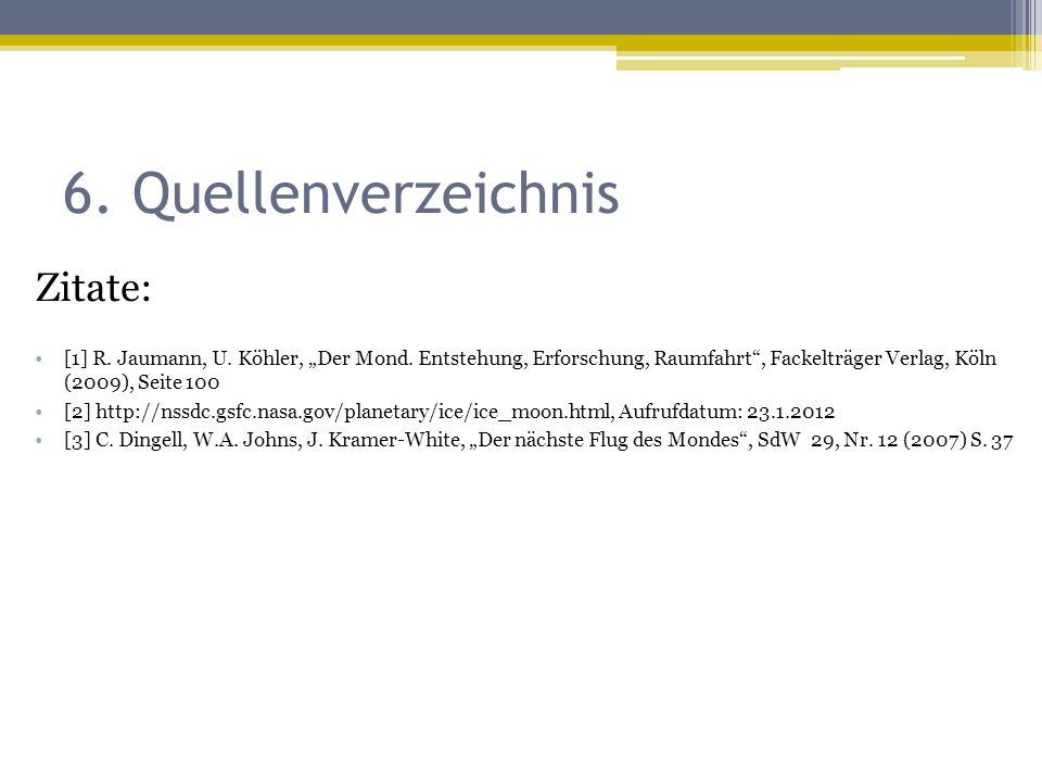 6. Quellenverzeichnis Zitate: