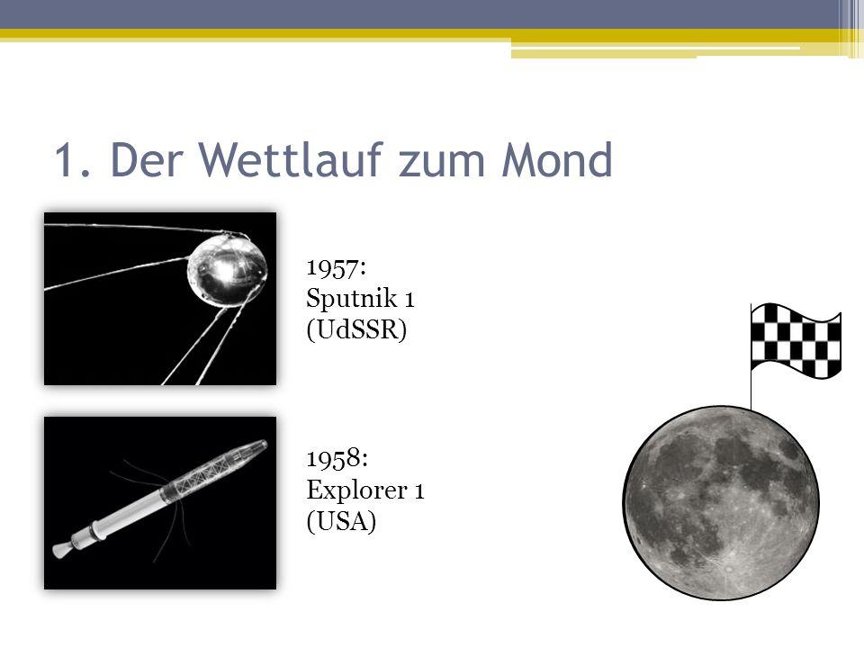1. Der Wettlauf zum Mond 1957: Sputnik 1 (UdSSR)