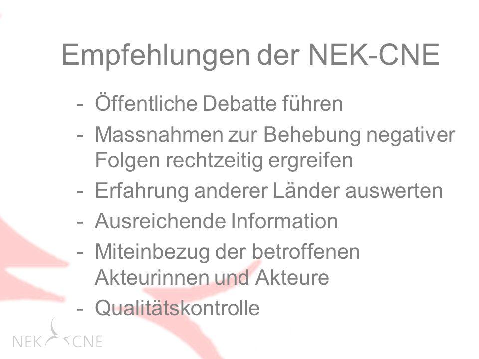 Empfehlungen der NEK-CNE