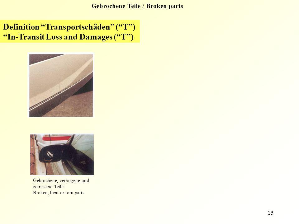 Gebrochene Teile / Broken parts