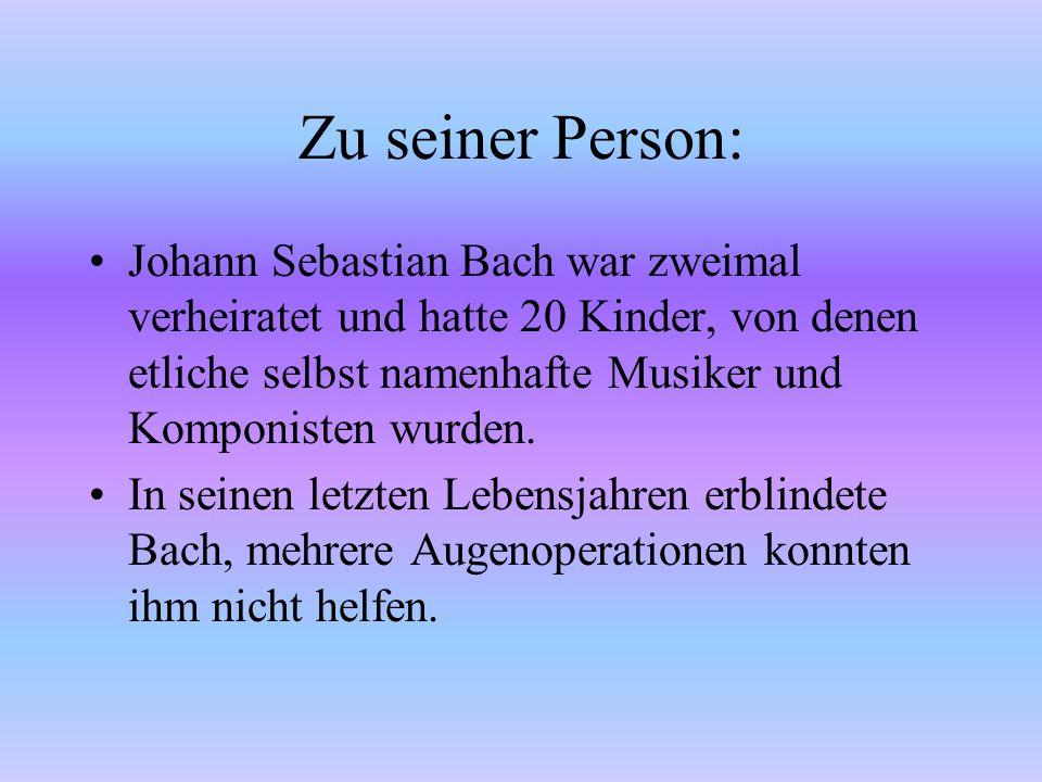 Zu seiner Person: