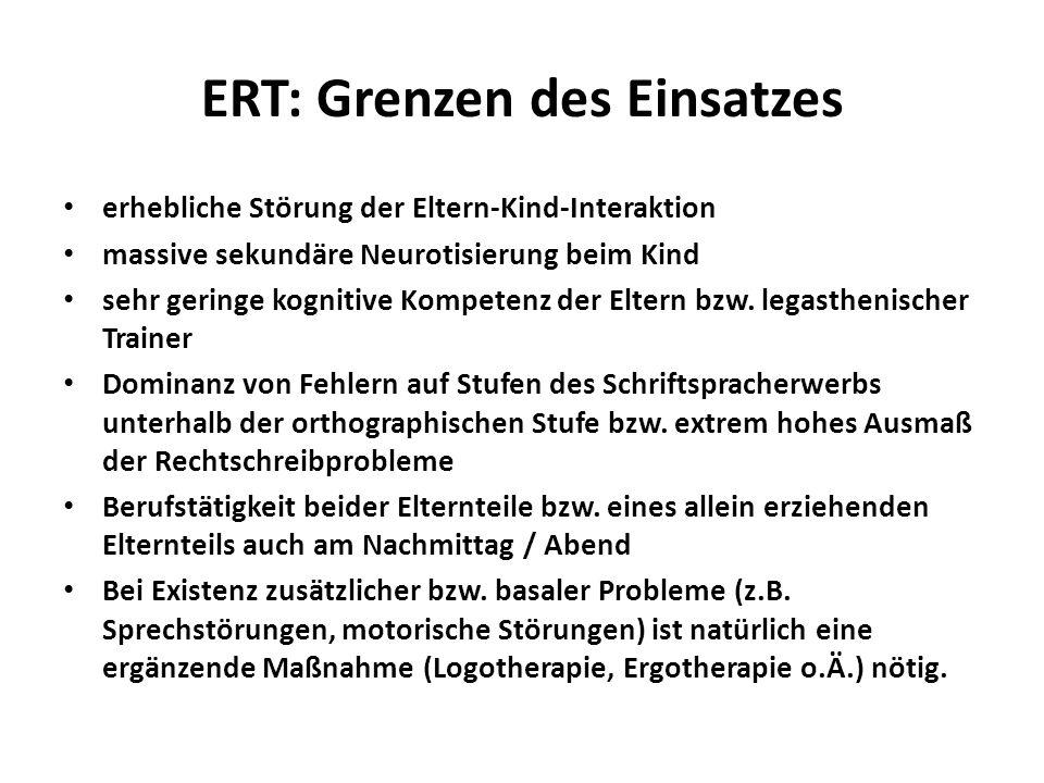 ERT: Grenzen des Einsatzes