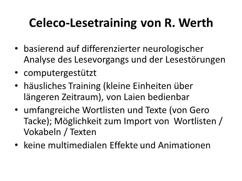 Celeco-Lesetraining von R. Werth