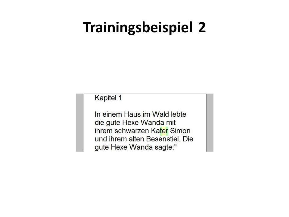 Trainingsbeispiel 2