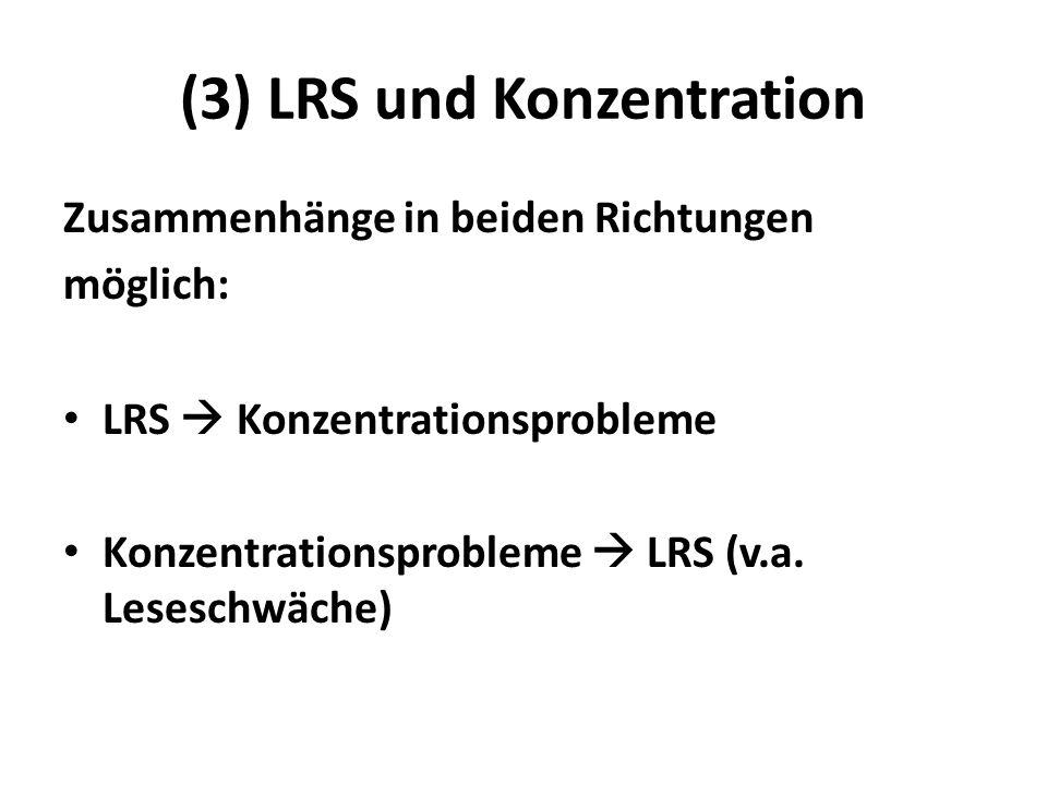 (3) LRS und Konzentration