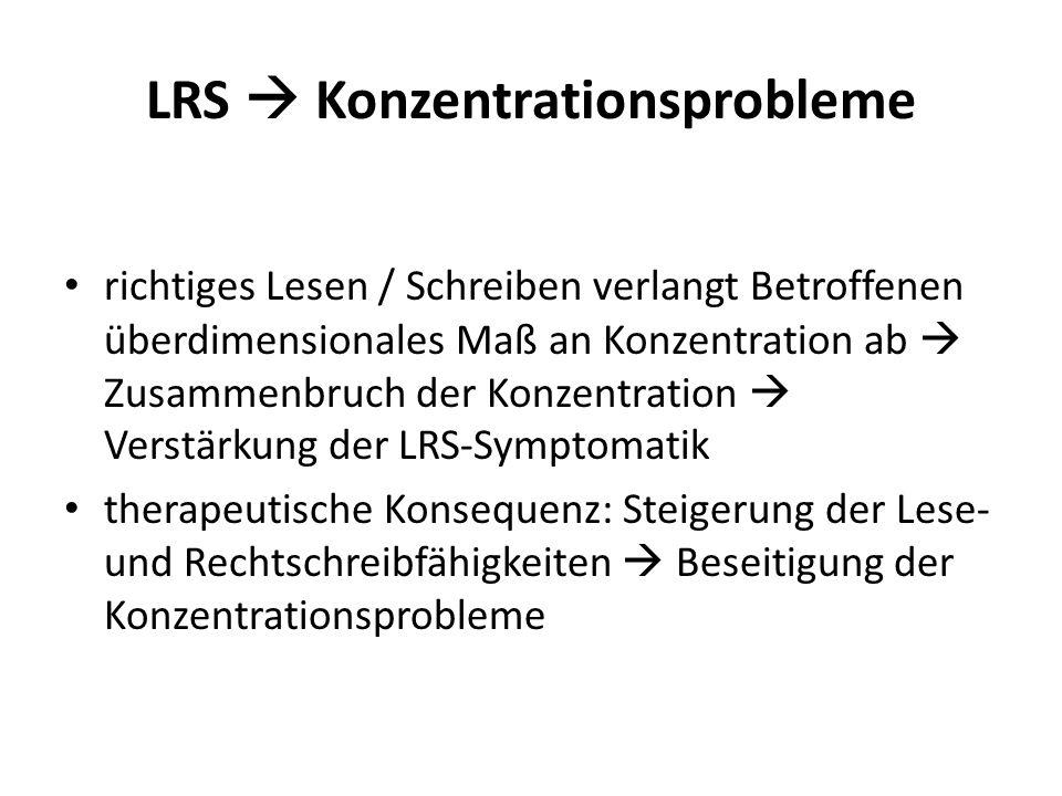 LRS  Konzentrationsprobleme