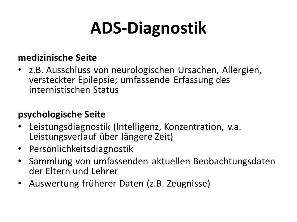 ADS-Diagnostik medizinische Seite