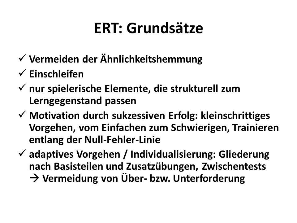 ERT: Grundsätze Vermeiden der Ähnlichkeitshemmung Einschleifen