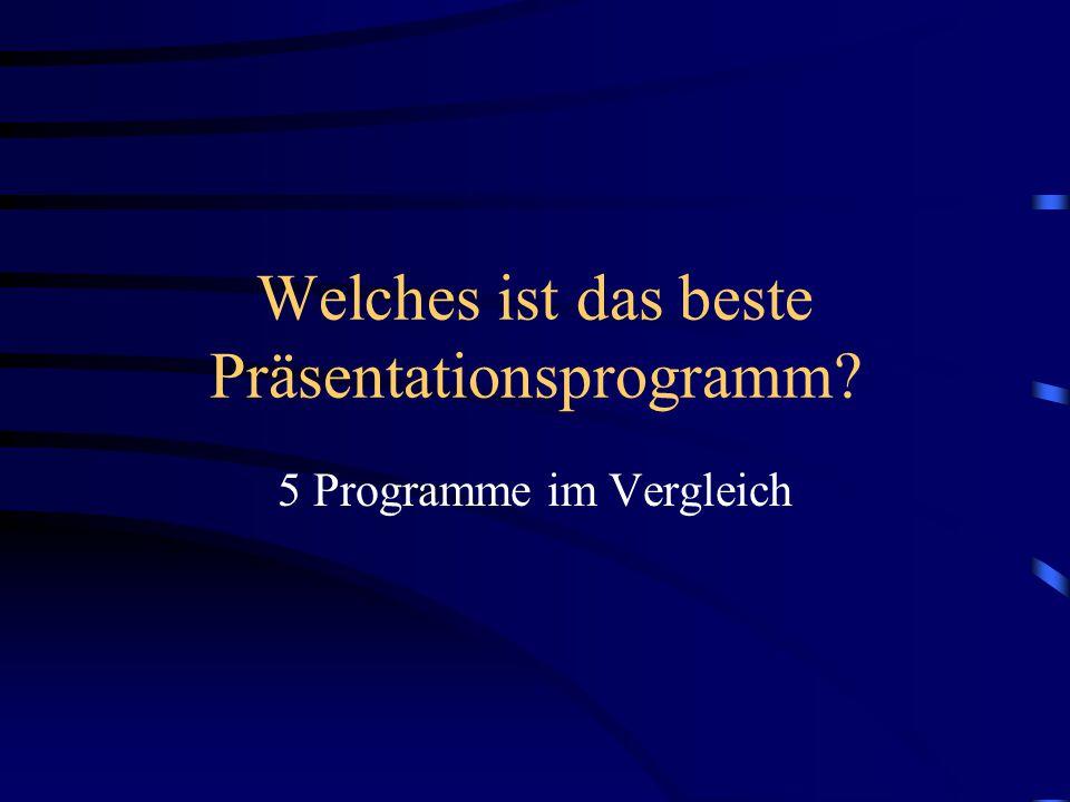 Welches ist das beste Präsentationsprogramm