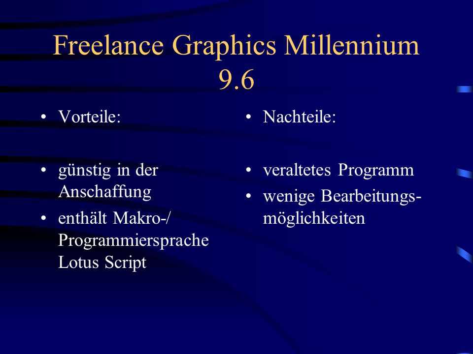 Freelance Graphics Millennium 9.6