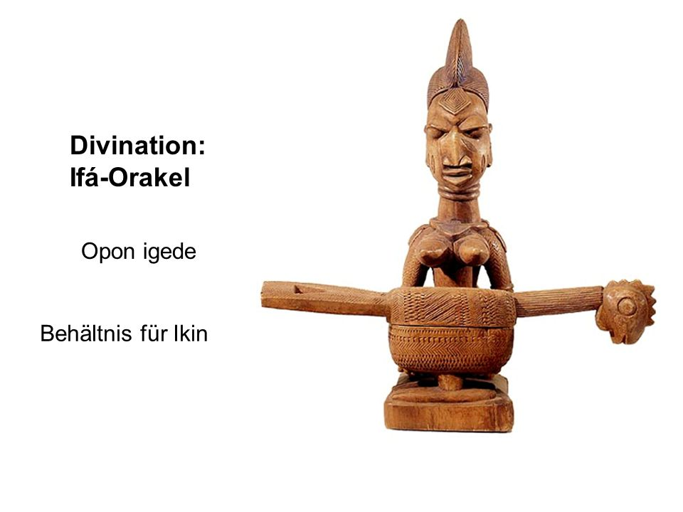 Divination: Ifá-Orakel Opon igede Behältnis für Ikin