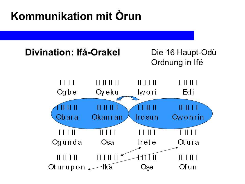 Kommunikation mit Òrun