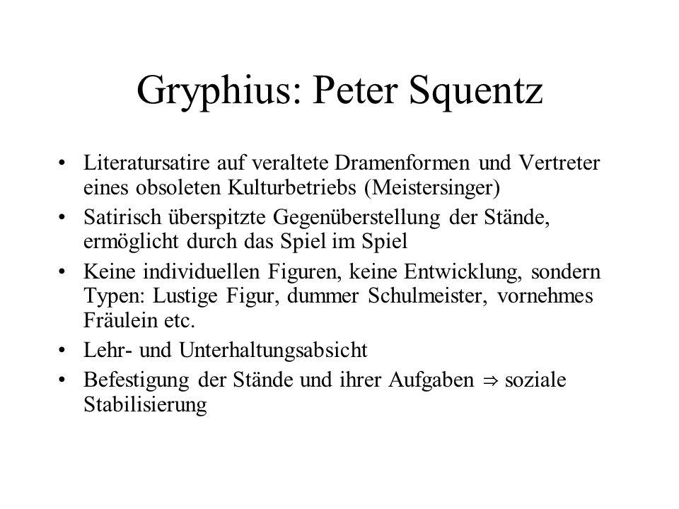 Gryphius: Peter Squentz