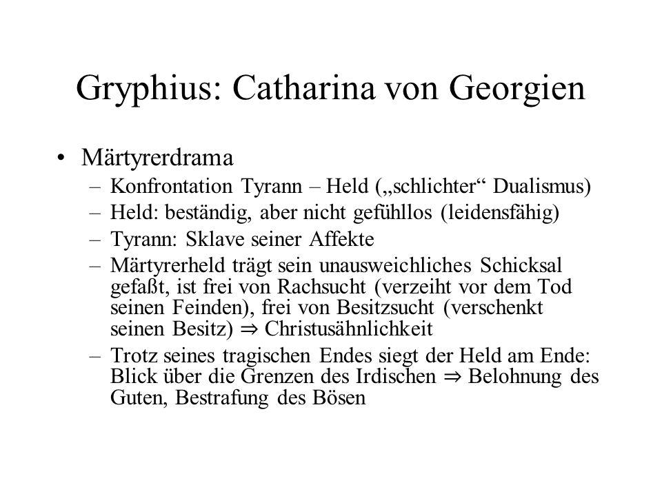 Gryphius: Catharina von Georgien
