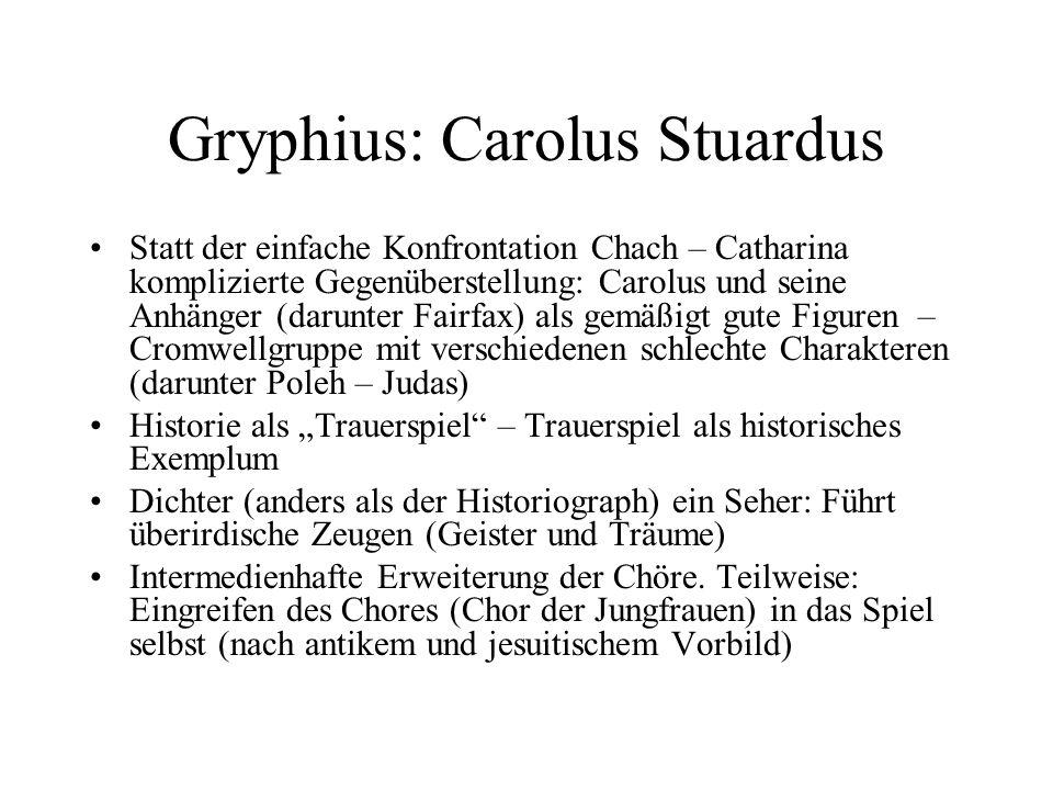 Gryphius: Carolus Stuardus