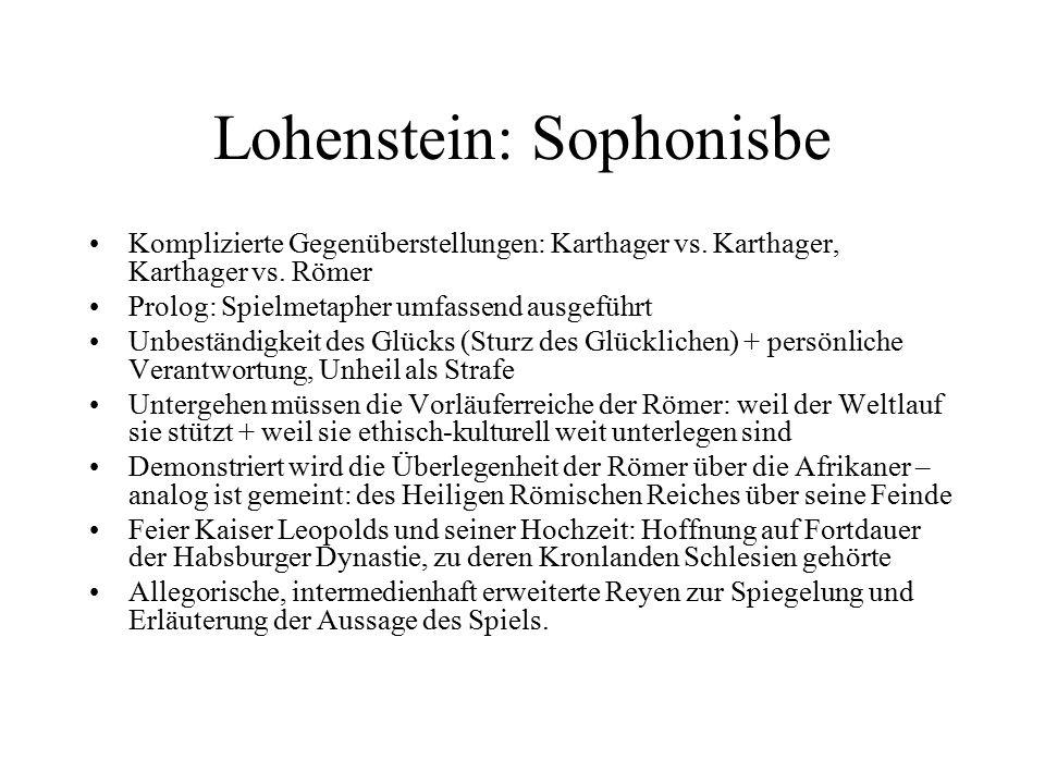 Lohenstein: Sophonisbe