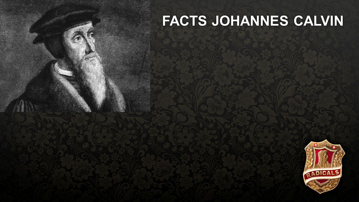 Facts Calvin FACTS JOHANNES CALVIN