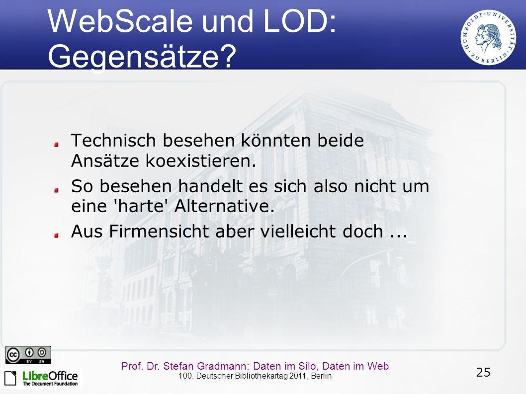 WebScale und LOD: Gegensätze