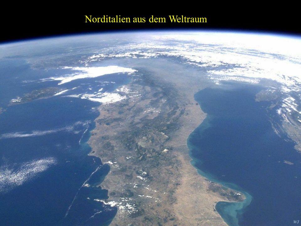 Norditalien aus dem Weltraum