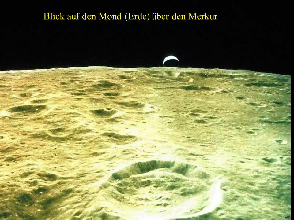 Blick auf den Mond (Erde) über den Merkur