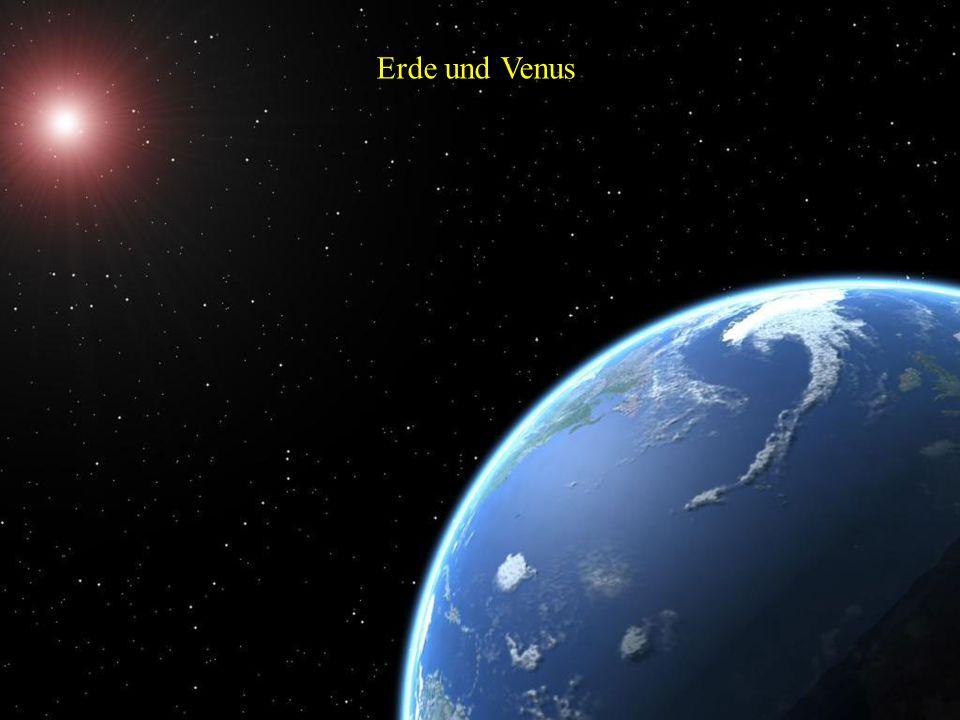 Erde und Venus