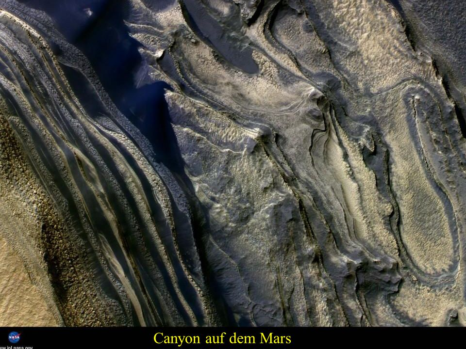 Canyon auf dem Mars