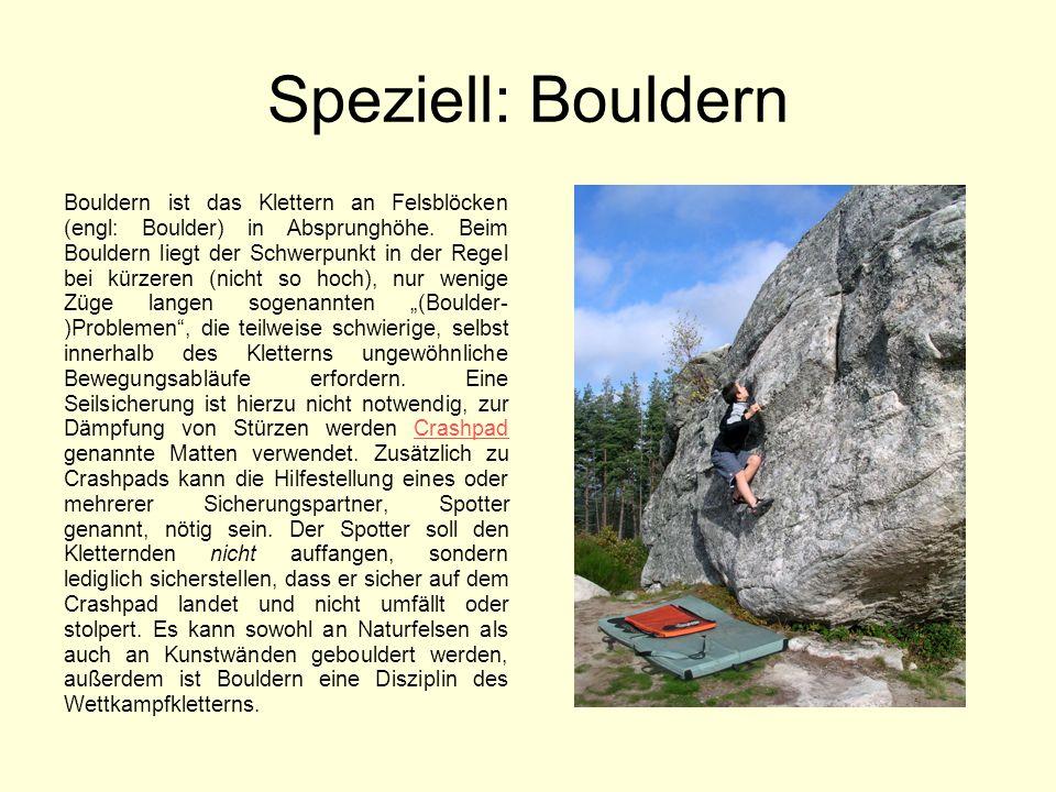 Speziell: Bouldern