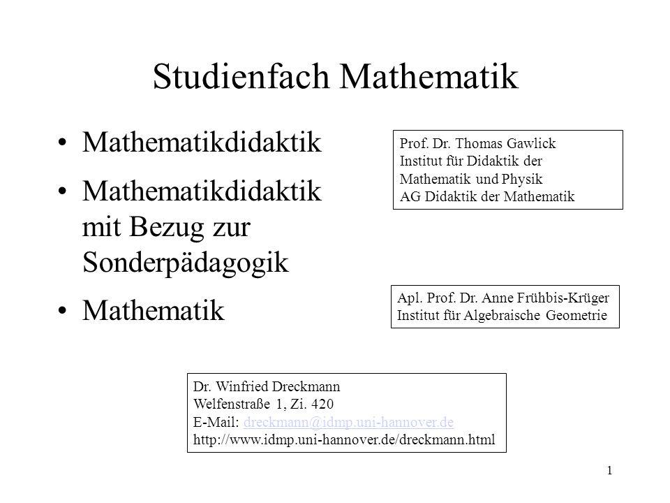 Studienfach Mathematik