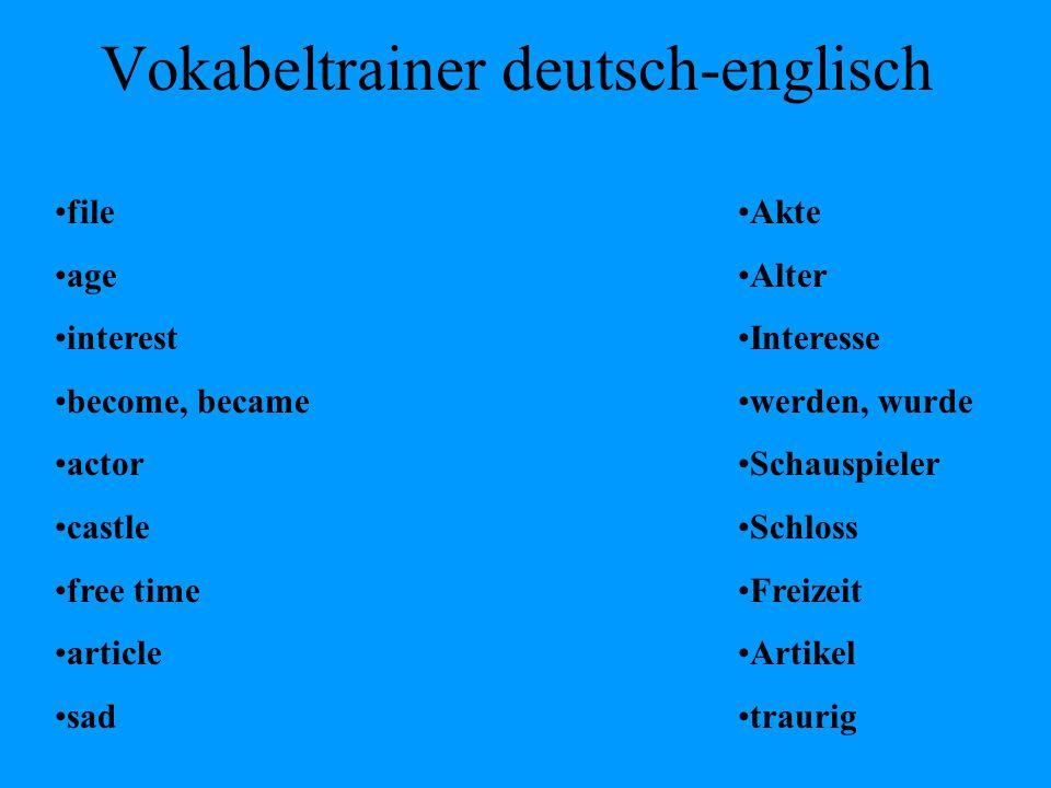 Vokabeltrainer deutsch-englisch