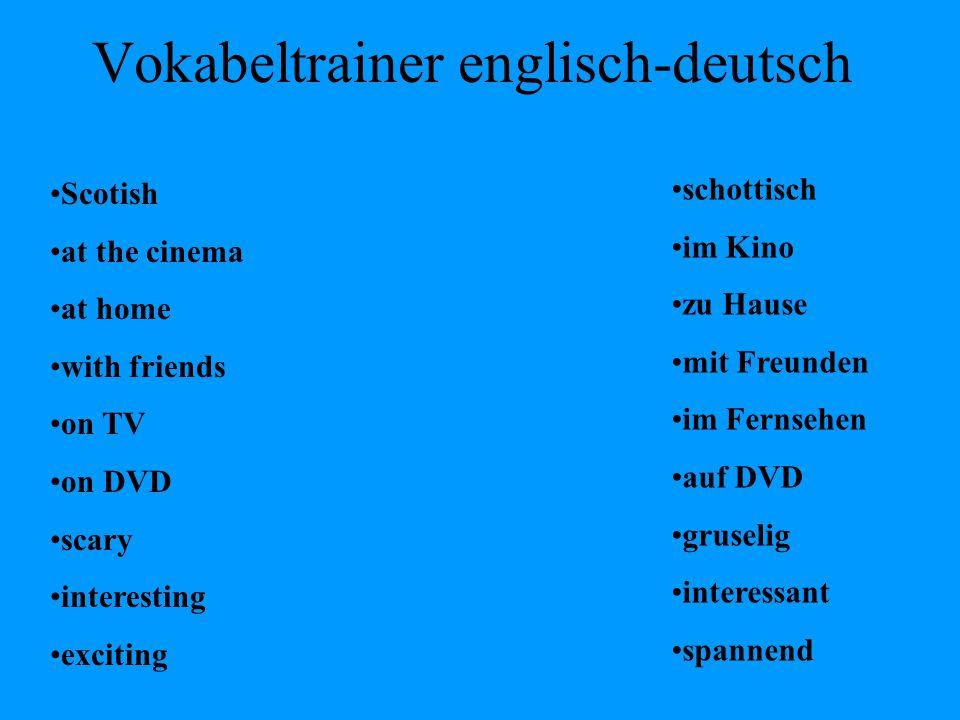 Vokabeltrainer englisch-deutsch