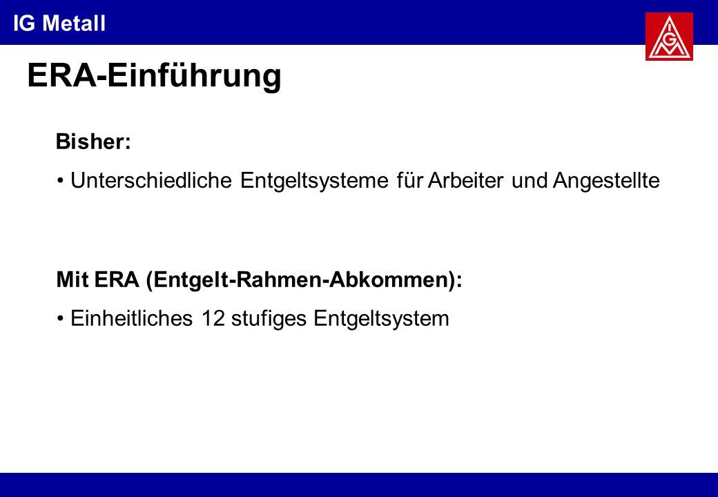 ERA-Einführung Bisher: