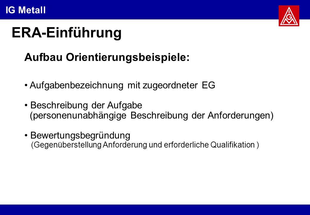 ERA-Einführung Aufbau Orientierungsbeispiele: