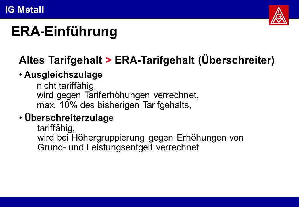 ERA-Einführung Altes Tarifgehalt > ERA-Tarifgehalt (Überschreiter)