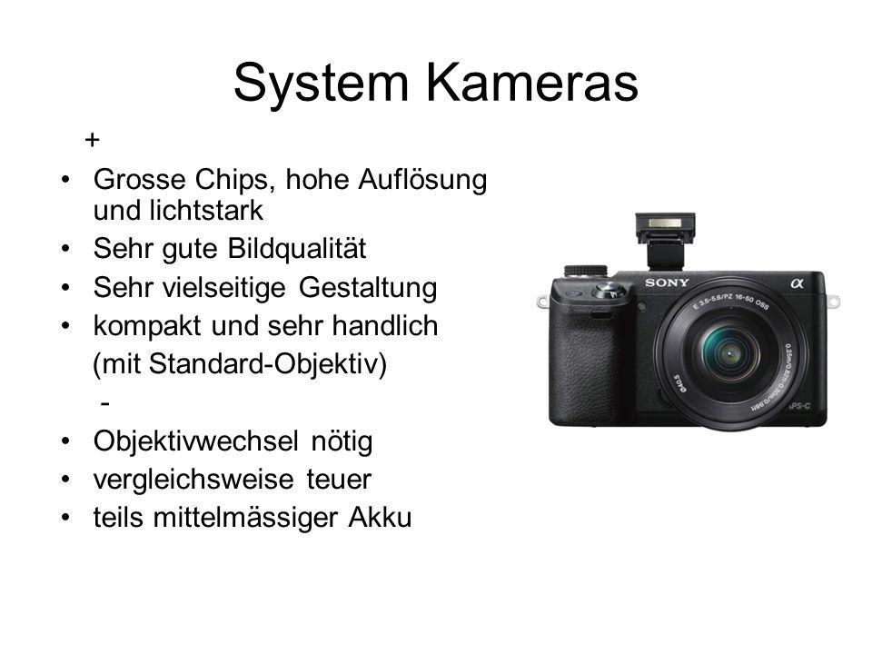 System Kameras + Grosse Chips, hohe Auflösung und lichtstark