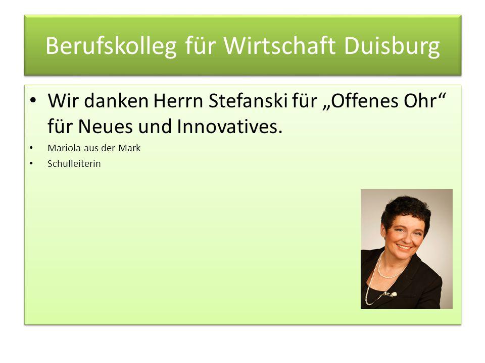 Berufskolleg für Wirtschaft Duisburg
