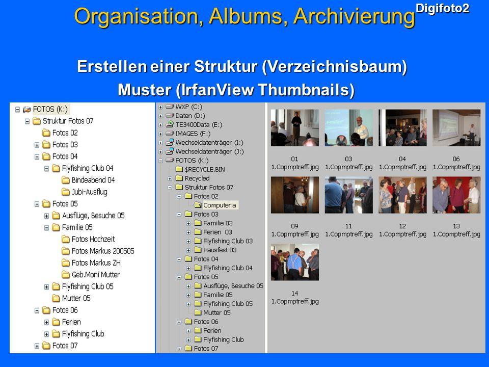 Organisation, Albums, Archivierung